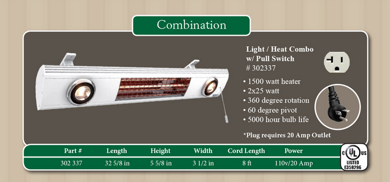 lighting and heating combination information